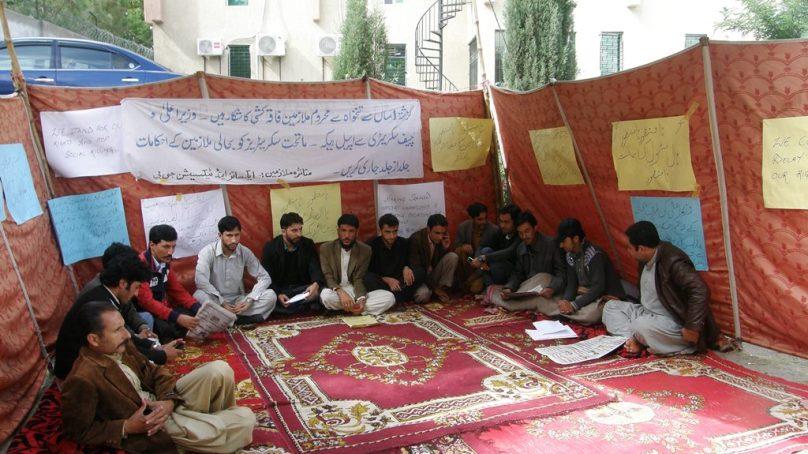 تین دنوں سے گلگت میں محکمہ ایکسائز اینڈ ٹیکسیشن کے ملازمین کا احتجاجی دھرنا جاری