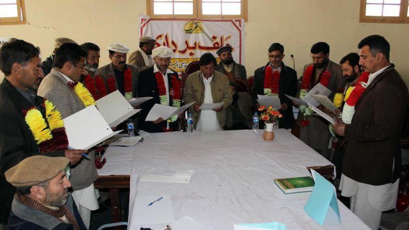 گلگت بلتستان ٹیچرز ایسوسی ایشن کےنو منتخب کابینہ نے اپنے عہدوں کا حلف اٹھا لیا