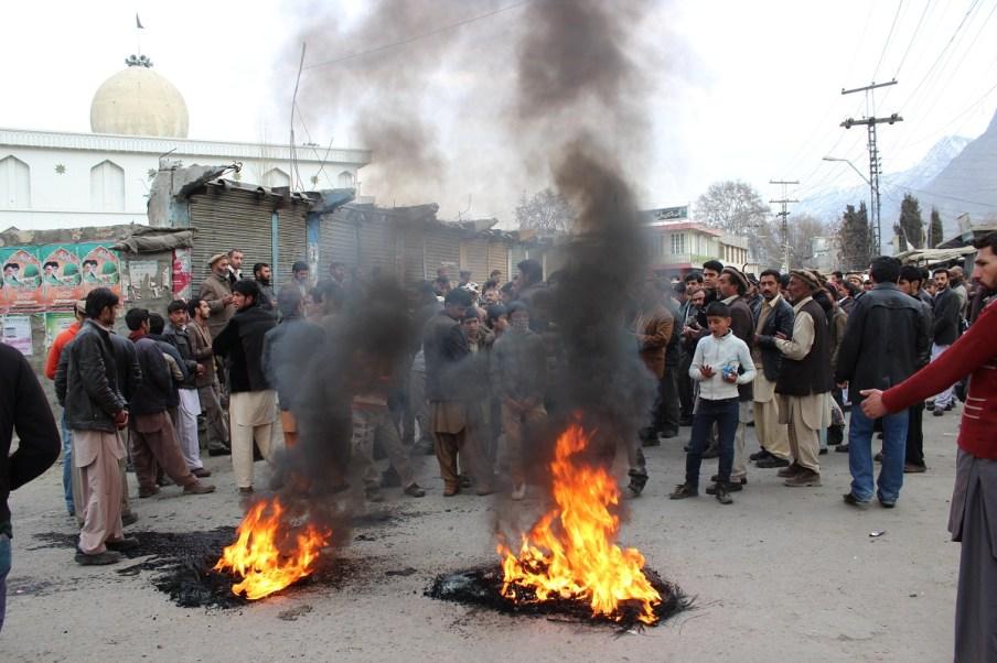 گلگت میں سانحہ پشاور کے خلاف احتجاجی مظاہرہ کیا گیا