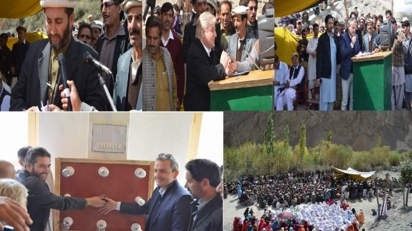 چترال، وادی لاسپور کے گاوں رامان میں 500کلو واٹ مایکروہائڈروپاور پراجیکٹ کا افتتاح