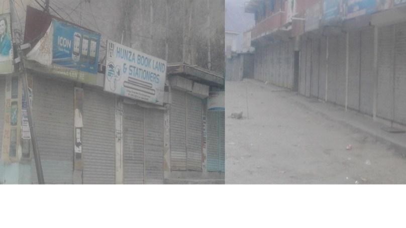 ہنزہ: بجلی کی طویل لوڈ شیڈنگ کے خلاف شٹر ڈوان ہٹرتال، ایک ہفتے کا الٹی میٹم