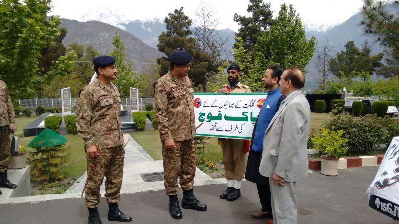 پاک فوج نے سیلاب متاثرین کے لئے امدادی سامان حکومت گلگت بلتستان کے حوالے کردیا