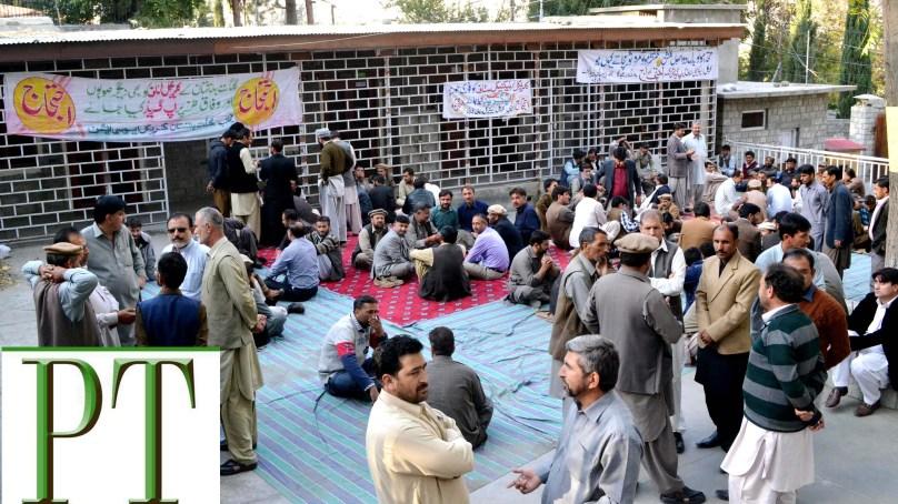 گلگت بلتستان بھر میں کلریکل سٹاف نے غیر معینہ مدت کے لئے احتجاجی دھرنے کا آغاز کردیا