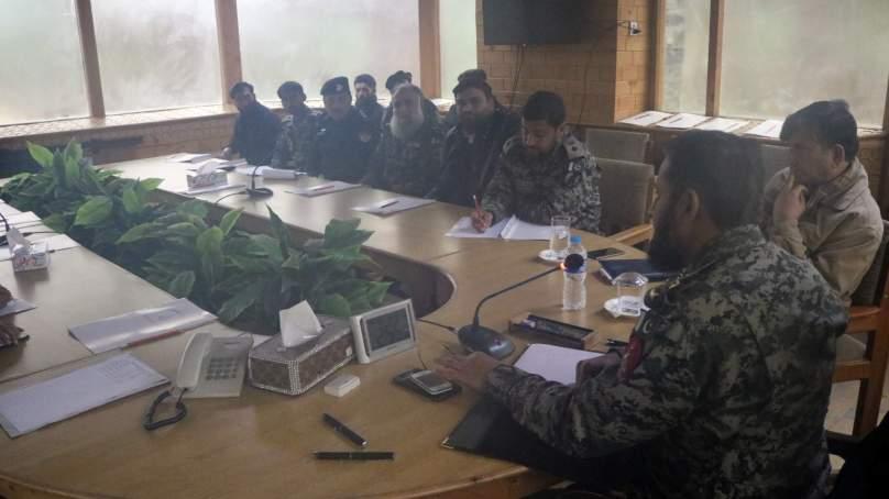 ہیڈکوارٹر چترال ٹاسک فورس میں سیکیورٹی کانفرنس