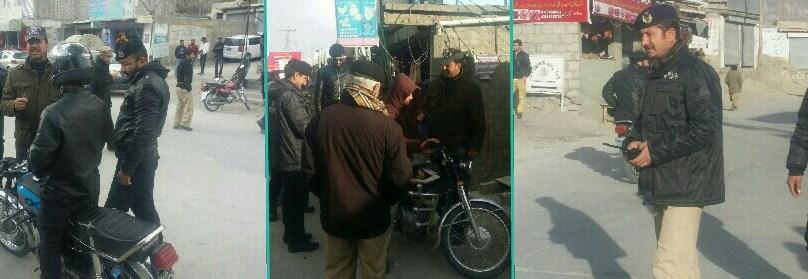 ہنزہ: علی آبادبازار سےپولیس نے بغیر ہیلیمٹ درجنوں موٹر سائیکل اپنے قبضے میں لے لیے