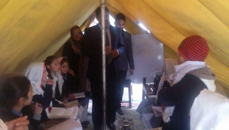 ہنزہ : ہوم سکریٹری کا گرلز ہائی سکول علی آباد کا دورہ