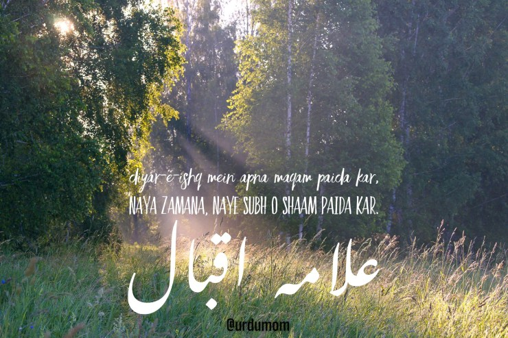 famous verses of Allama Iqbal