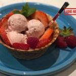 home-made strawberry icecream