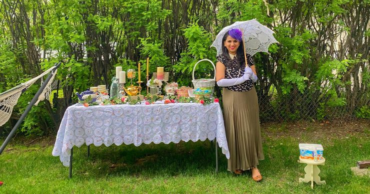 planning a socially distant party - Jane Austen Garden Party theme