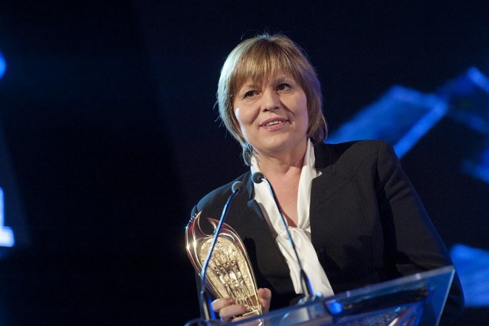 """Спортната министърка Мариана Георгиева по време на церемонията """"Спортист на годината"""" за 2013 г. Снимка: БГНЕС"""