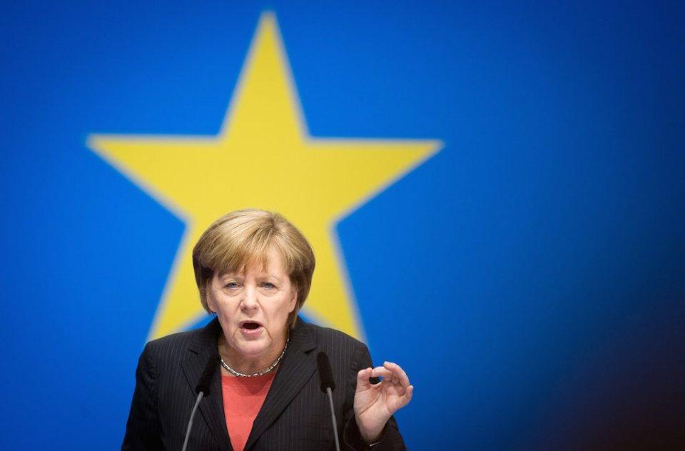 Ангела Меркел по време на срещата на ХДС в Берлин Снимка: БГНЕС