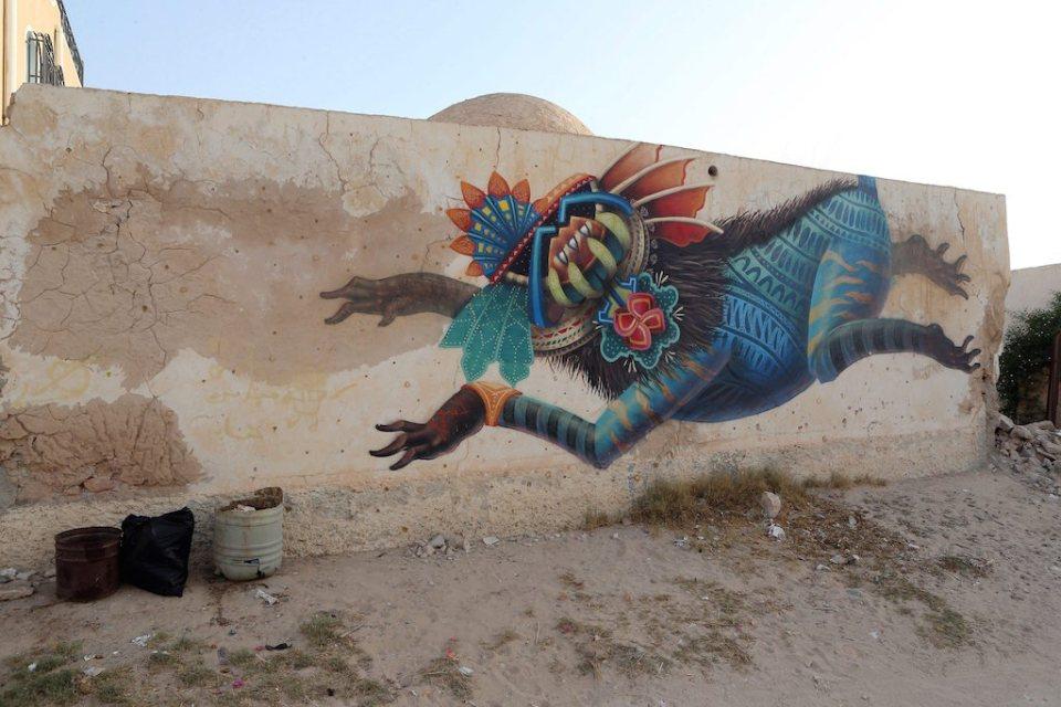 Street art project 'Djerbahood' in Erriadh