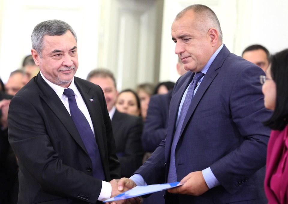 Съпредседателят на ПФ Валери Симеонов и Бойко Борисов © БГНЕС