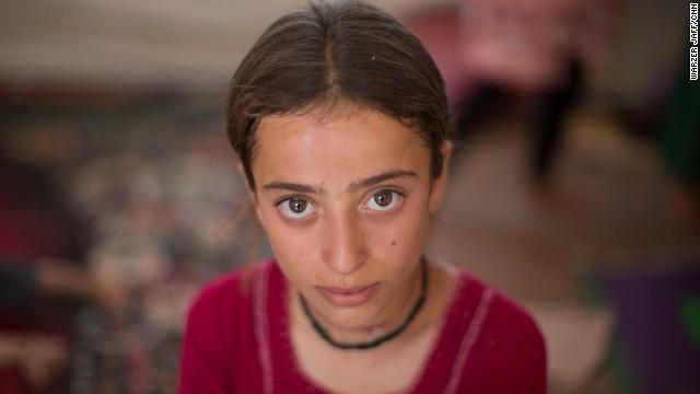 момиче от общността на йезидите