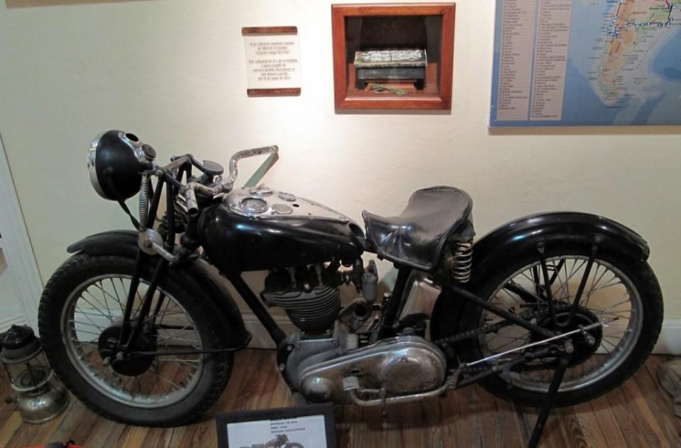 """Моделът, използван в """"Мотоциклетните дневници""""."""