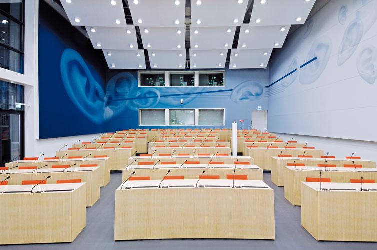 Medienzentrum  в Берн. Залата за пресконференции.