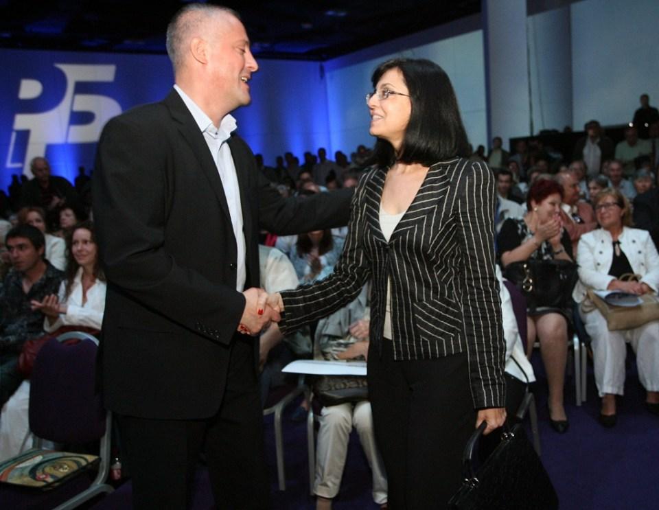 Божидар Лукарски и Меглена Кунева. Снимка: БГНЕС