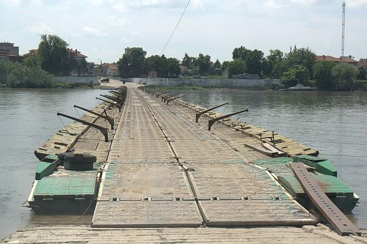 Понтонният мост. Снимка Posoki.com