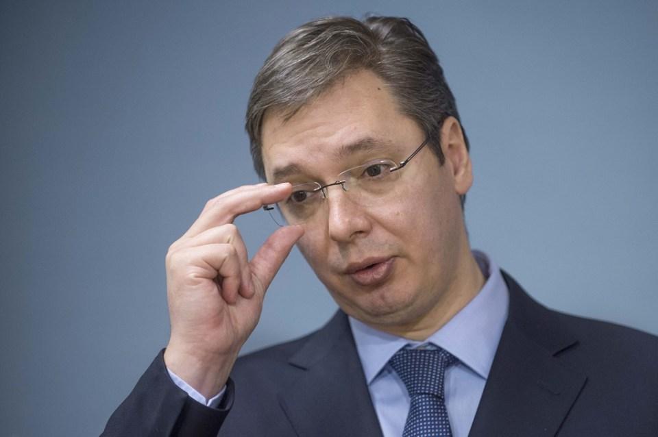 Сръбският премиер Александър Вучич. Снимка: EPA/ БГНЕС