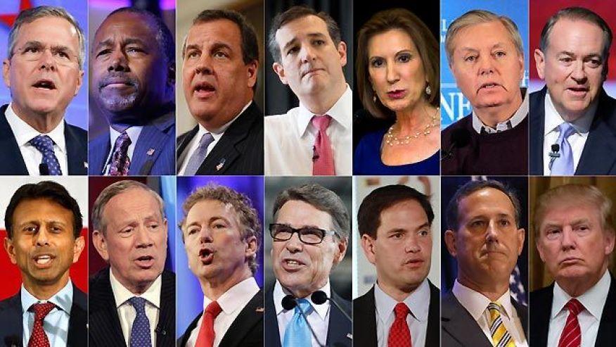 Кандидатите на Републиканската партия за президент на САЩ, измежду които ще се избира.