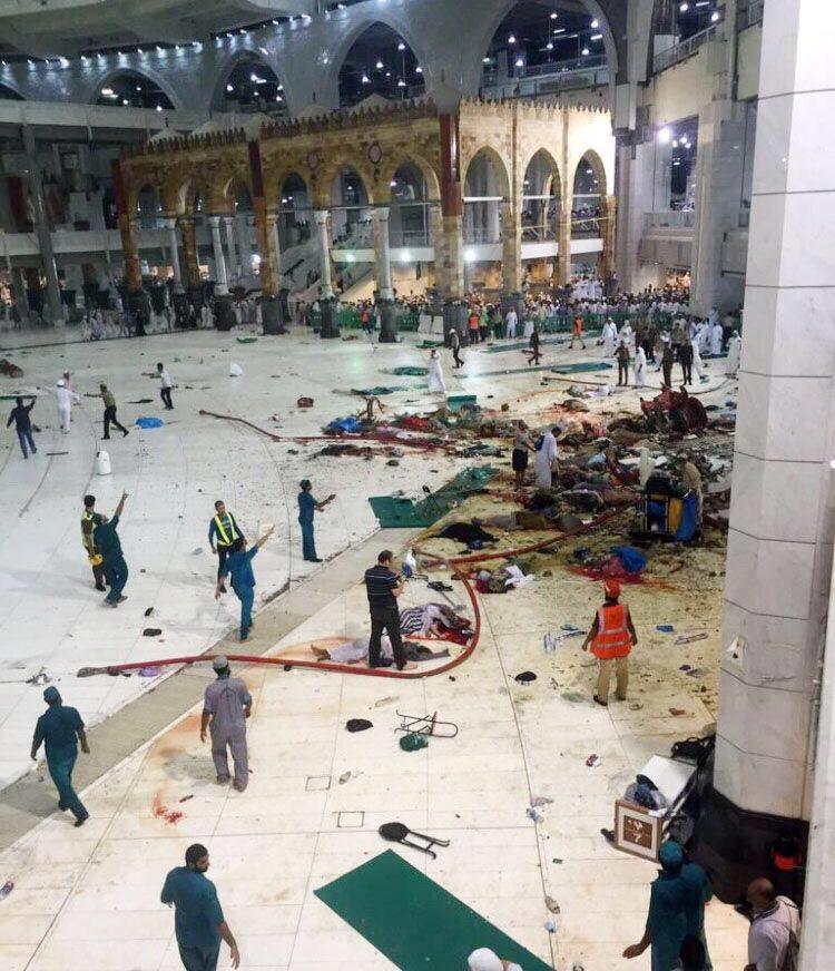Инцидентът в Свещена джамия в Мека. Снимка: ЕРА/БГНЕС