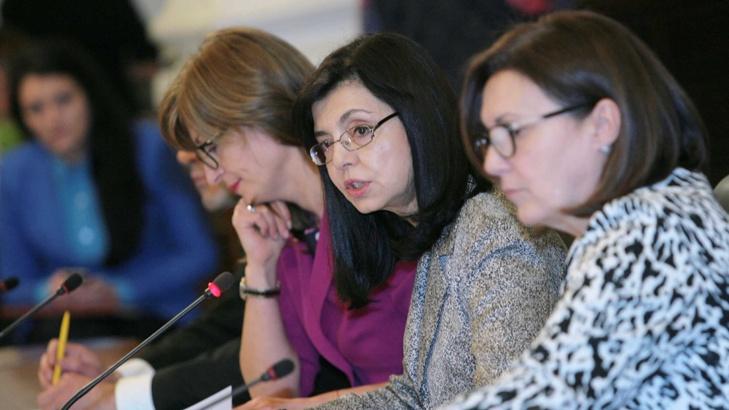 Отляво надясно: Томислав Дончев, Екатерина Захариева, Меглена Кунева, Румяна Бъчварова.
