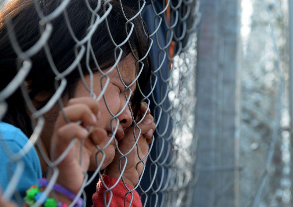 Македония граница бежанци 1