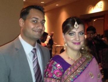Саид Рахил Фарук и съпругата му - рускинята Татяна