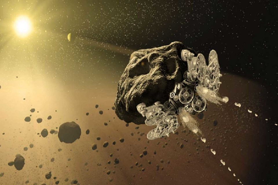 Астероид, преобразуван в космически кораб