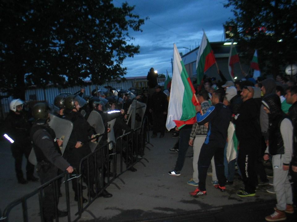 На протеста в Раднево... Снимка: БНР