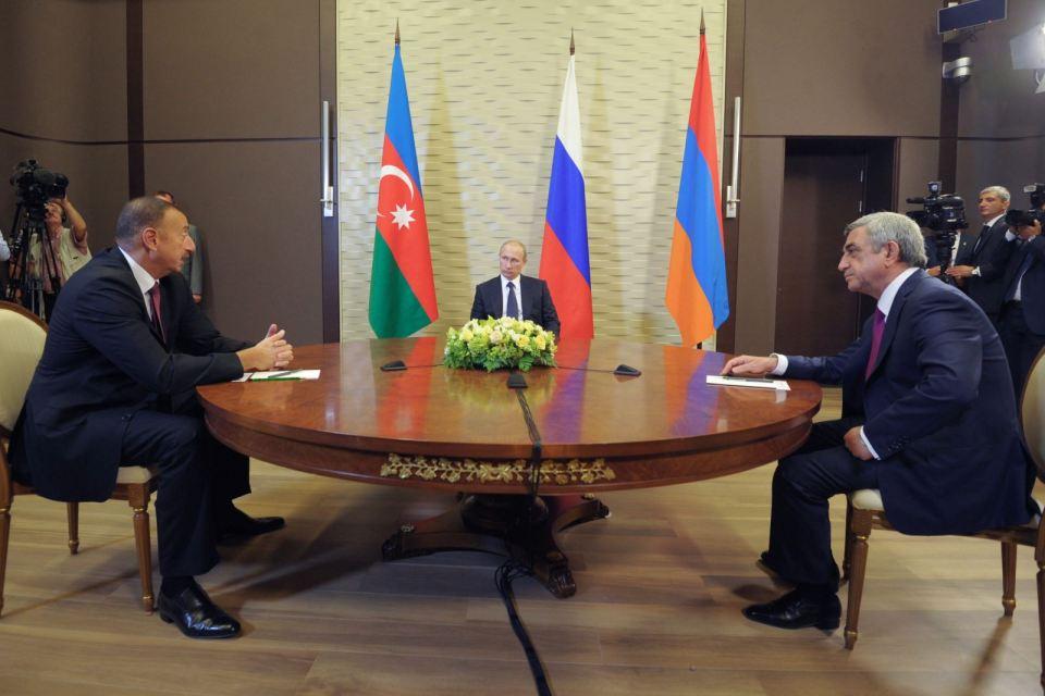 Илхам Алиев и Серж Саркисян. Снимка: ЕРА/БГНЕС