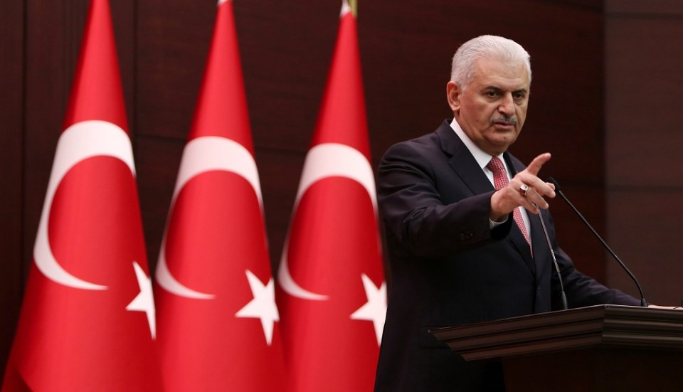 Турският премиер Бинали Йълдъръм. Снимка: ЕРА/БГНЕС