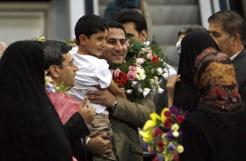 Шахрам Амири при завръщането си в Техеран през юни 2010 г.