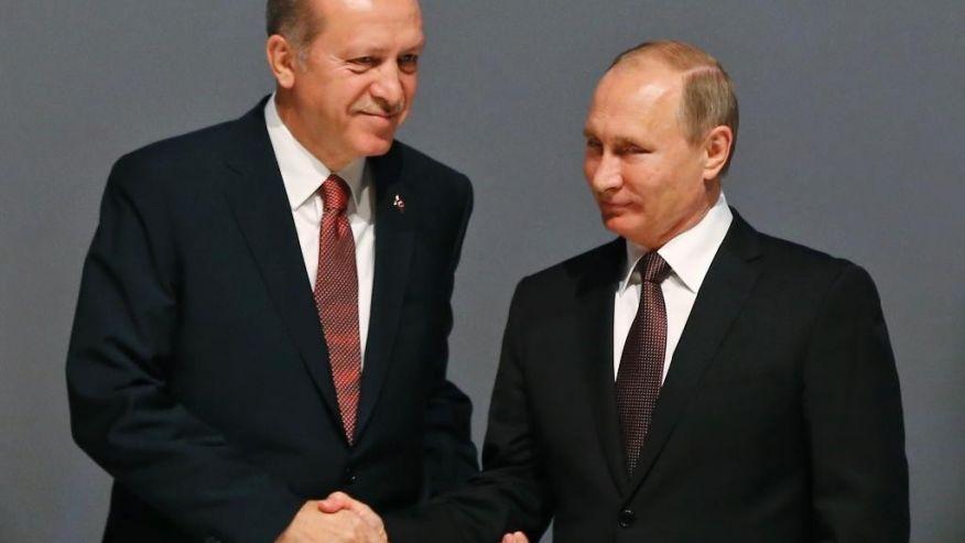 Президентът на Турция Ердоган и на Русия - Путин, на Световния енергиен конгрес