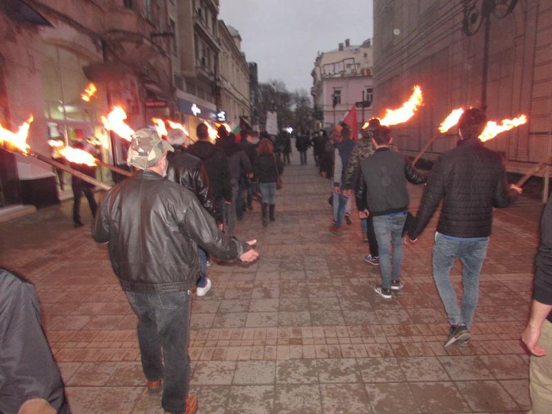 Кадър от факелното шествие в Русе в началото на 2016 г., ©БГНЕС