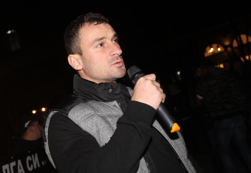 Петър Низамов – Перата на протеста в София срещу мигрантите, ©БГНЕС