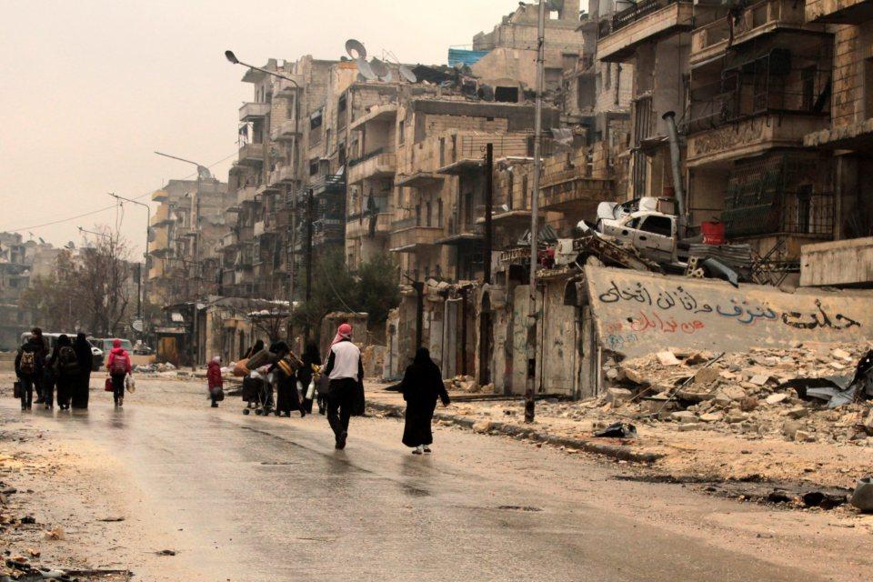 Източен Алепо преди евакуацията. Снимка: ЕРА/БГНЕС