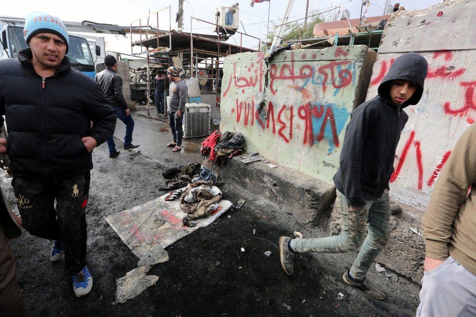Мястото на атентата в Багдад. Снимка: ЕРА/БГНЕс