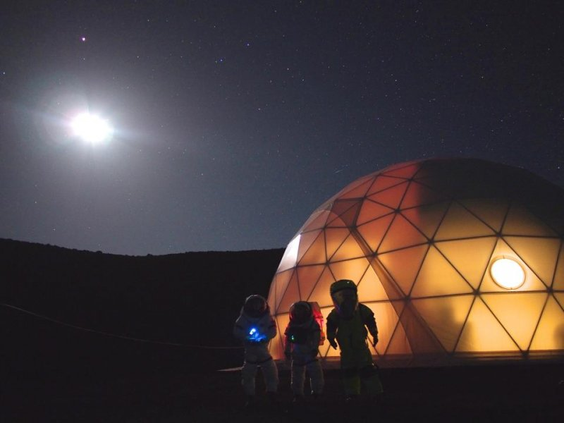 Симулационният хабитат в хавайския вулкан. Снимка: HI-SEAS