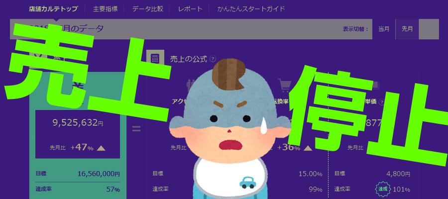 当店の売上が停止状態に!月商1000万円も消滅か?