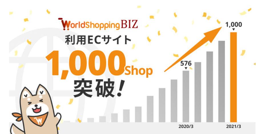 越境EC・ウェブインバウンド対応サービス「WorldShopping BIZ」利用ECサイト数が1000ショップを突破
