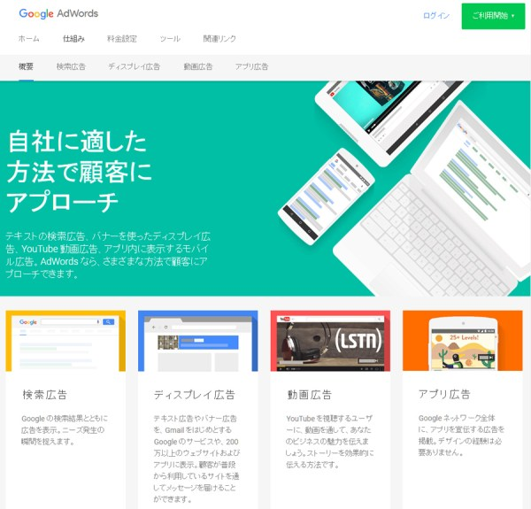 GoogleAdWords(Googleアドワーズ広告)