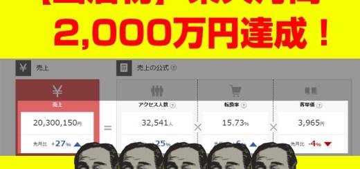 楽天月商2000万円突破