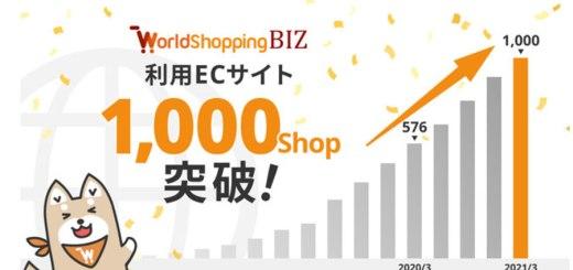 越境EC・ウェブインバウンド対応サービス「WorldShopping BIZ」利用ECサイト数が1,000ショップを突破