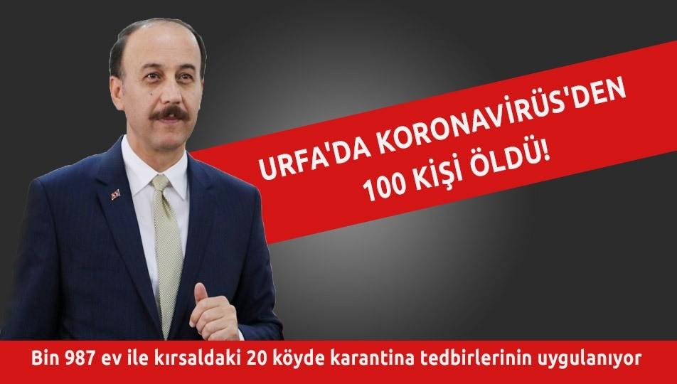 Urfa'da Koronavirüs'den 100 kişi öldü!