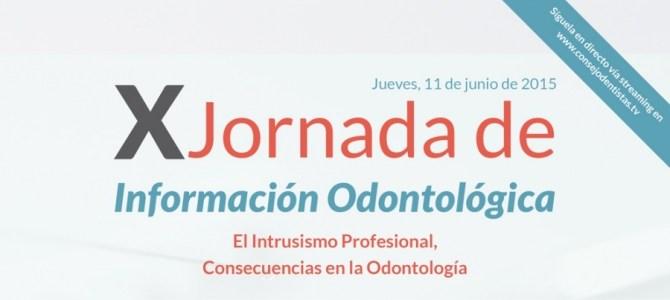 X Jornada de Información Odontológica