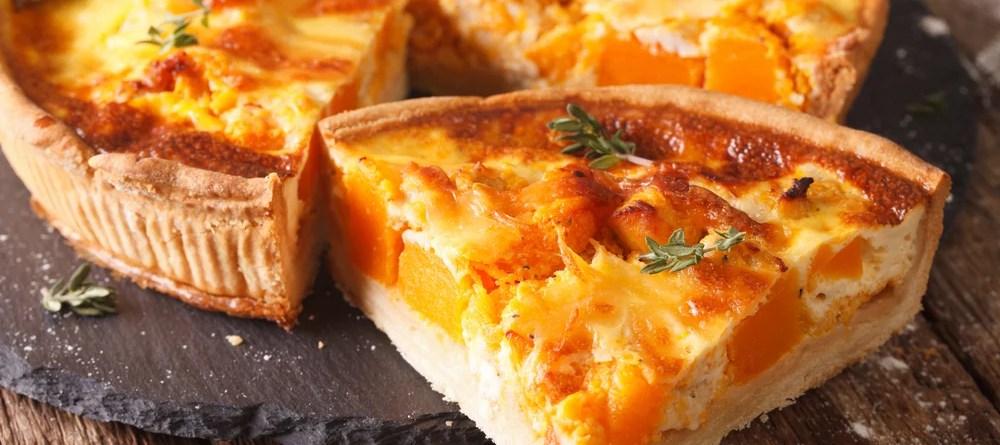 Kürbis-Quiche und Pilz-Omelette mit Hackfleisch. Gesunde Rezepte mit viel Vitamin B12