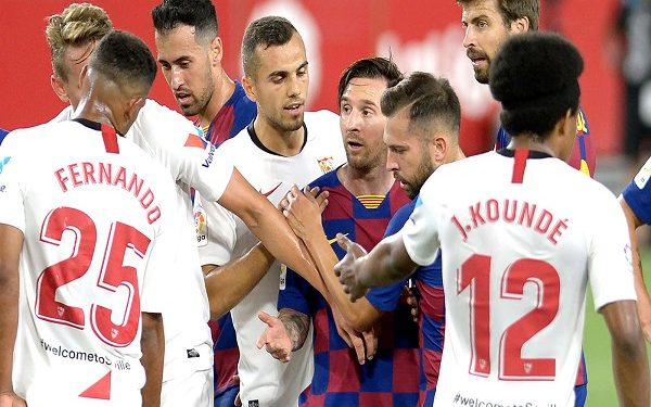 BARCELONA STUMBLE AWAY TO SEVILLA