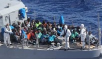 African migrants rescued from rough sea