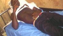 Mr. Mike Akpodhoma alias (MIKOKO) on hospital bed